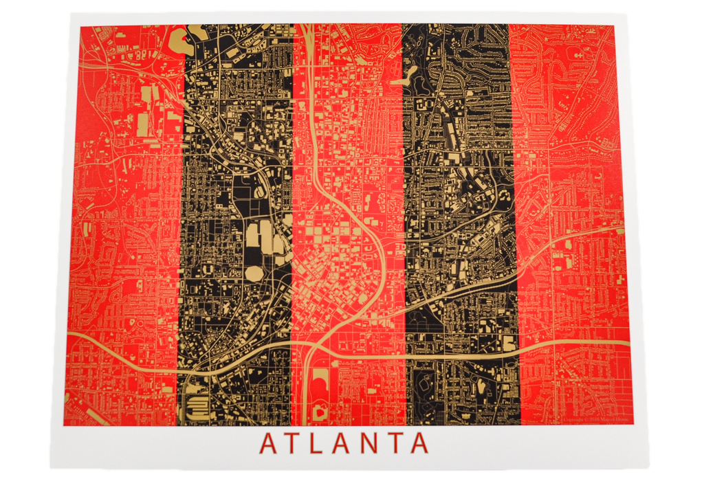 Atlanta United Modern Map Art