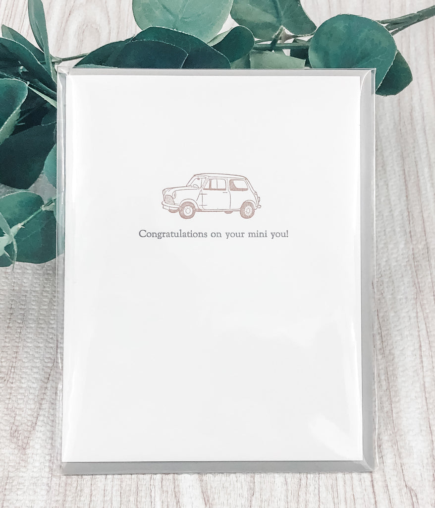 Congratulations On Your Mini You Card