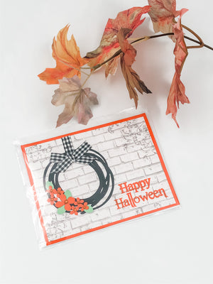 Happy Halloween Card Wreath