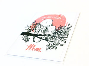Mom Owl Greeting Card