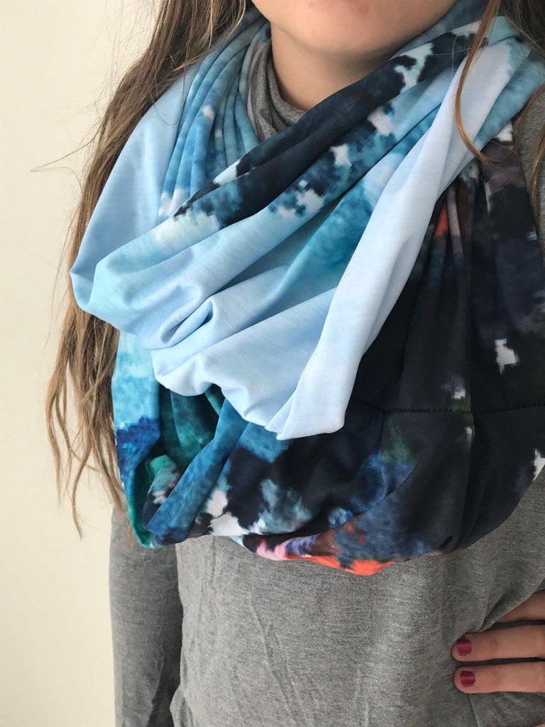 """People Watching"" Art Scarf"