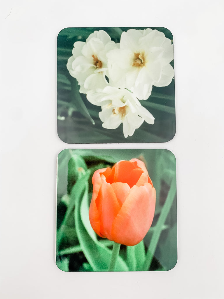 """Floral"" Photography on Coaster"