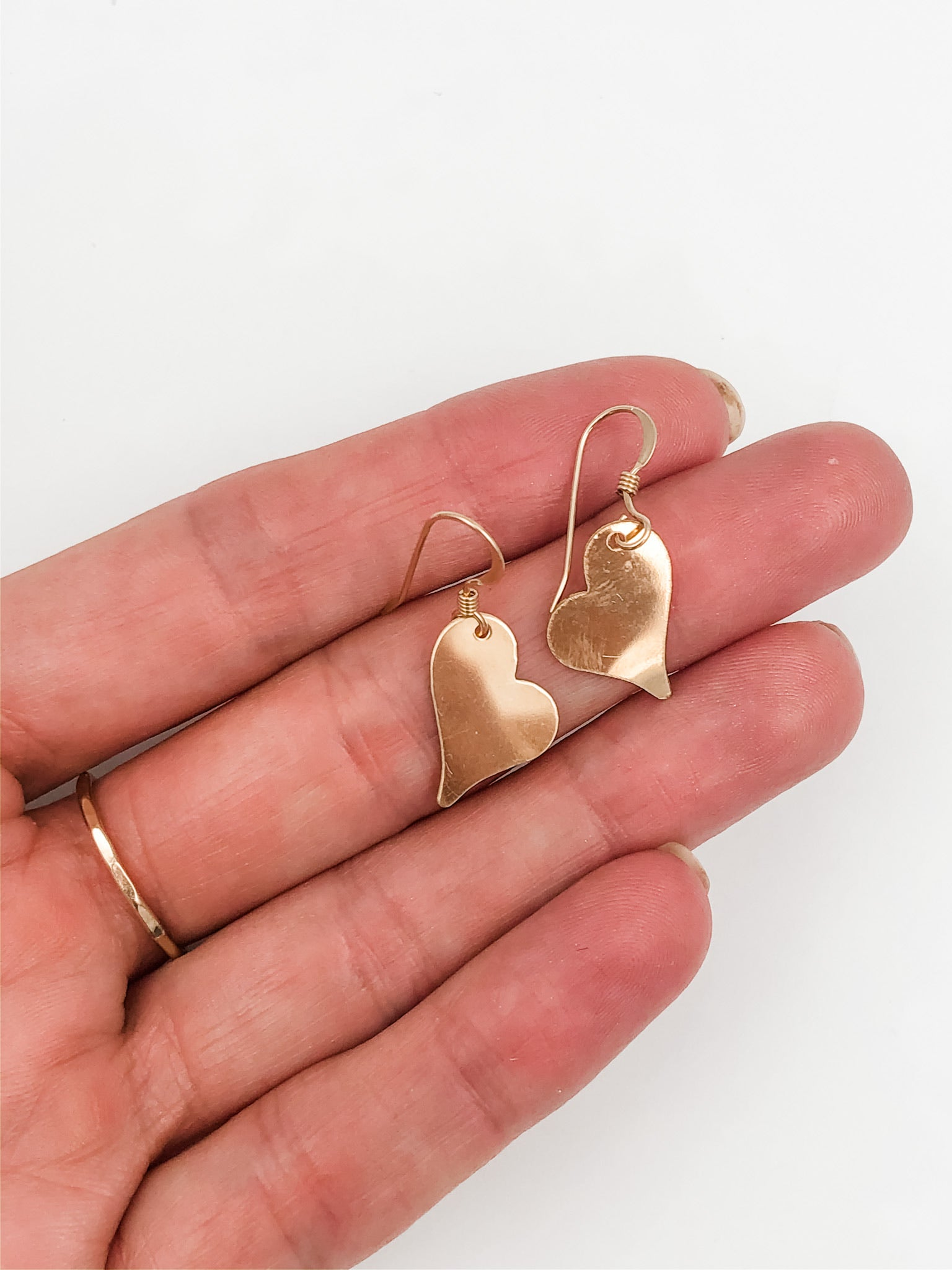 Gold Fill Heart Earrings