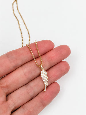 Gold Vermeil Angel Wing Necklace