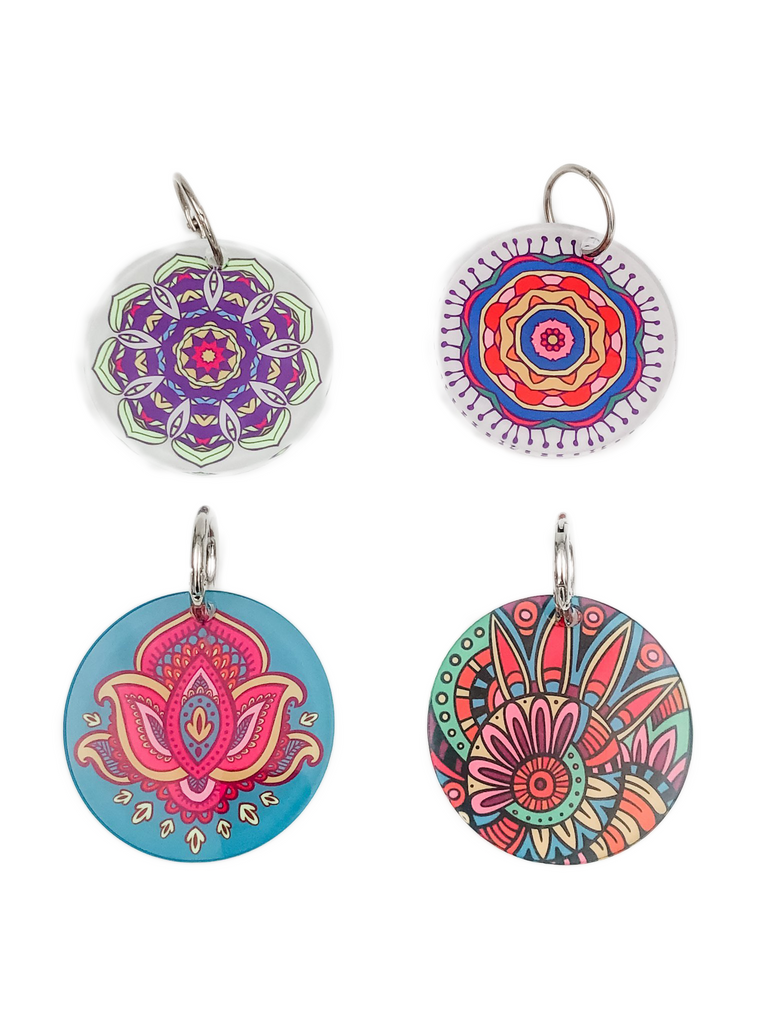 Mandala Design Key Chain