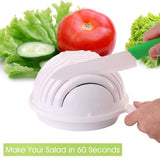 GENIUS SALAD - THE WORLD'S FASTEST SALAD MAKER - FRESH SALAD IN 60 SECONDS