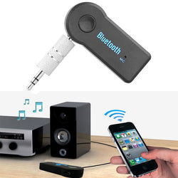 Universal 3.5mm Streaming Car A2DP Wireless Bluetooth Car Kit AUX Audio Music Receiver Adapter Handsfree with Mic For Phone MP3 (Black Friday Cyber Monday Discount)