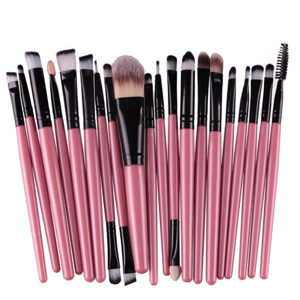 20 Pcs 16 Color Professional Soft Cosmetics Beauty Makeup Brush Set