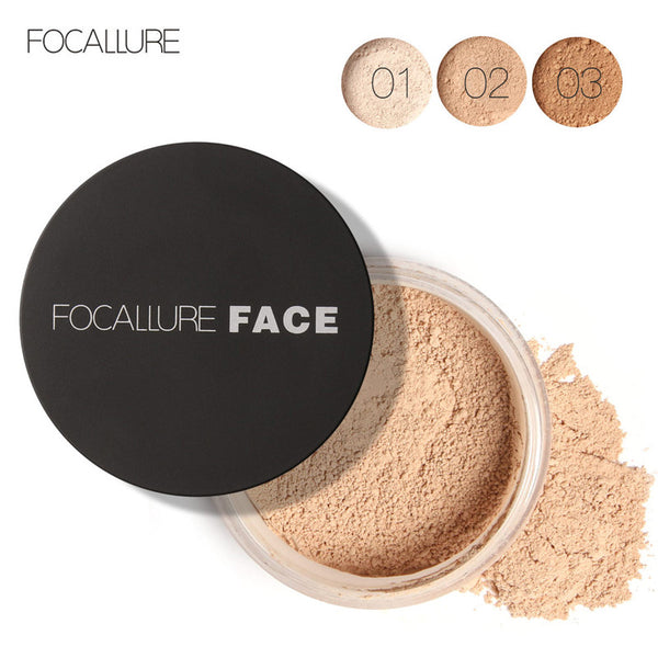 FOCALLURE New Brand Makeup Powder 3 Colors Loose Powder Face Makeup Skin Finish Powder