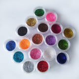 18 Color Set Nail Art acrylic Glitter Powder