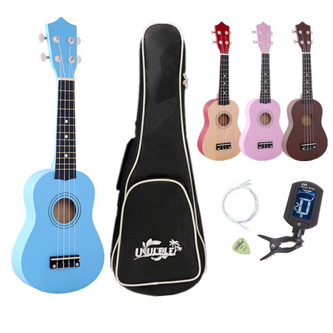 "21"" four color Ukulele Beginners Hawaii Four String Guitar + Bag + Tuner + String + Pick (Black Friday Cyber Monday Discount)"