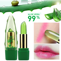 99% ALOE VERA Natural Temperature Change Color Jelly Lipstick For Moisturizing Lip Makeup