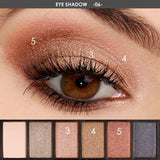 FOCALLURE 6 Colors Eyeshadow Palette Kit - Glamorous Smokey Eye Shadow Shimmer Makeup Kit