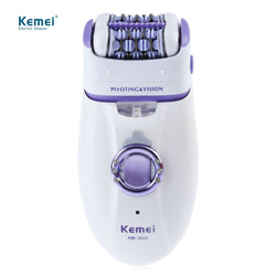 Kemei New 2 in 1 Women Shave Wool Device Knife Electric Shaver Wool Epilator Shaving Lady's Shaver Female Care (EU Plug)
