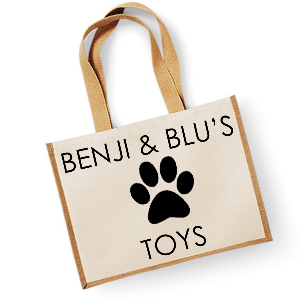 Personalised Dog Toy Storage Jute Bag