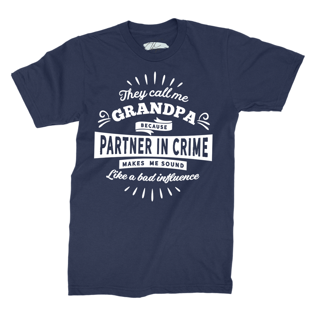 They call me PERSONALISED because Partner in Crime makes me sound like a bad influence - Navy T-Shirt