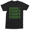 Image of Here Fishy Fishy Fishy black t-shirt (kids, mens & ladies sizes available)