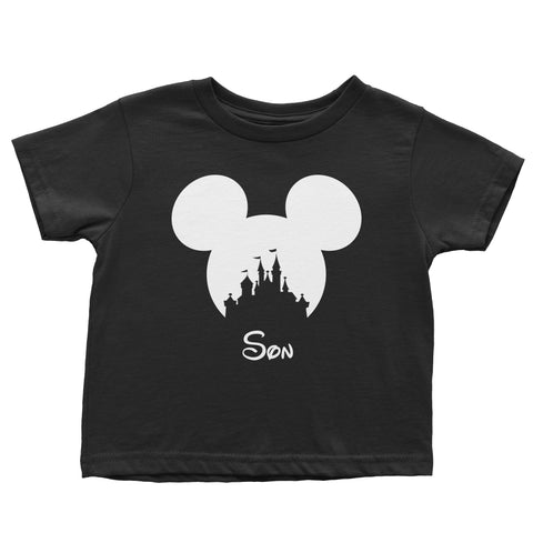 Disney Castle Personalised Family T-Shirts (kids, mens & ladies sizes available)