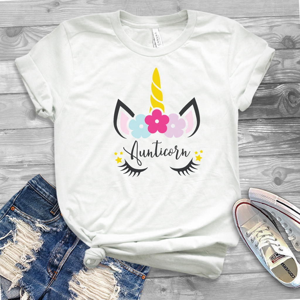 Mumicorn Unicorn white t-shirt - Personalised options!