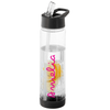 Image of Personalised Fruit Infuser Water Bottle - Black/Clear