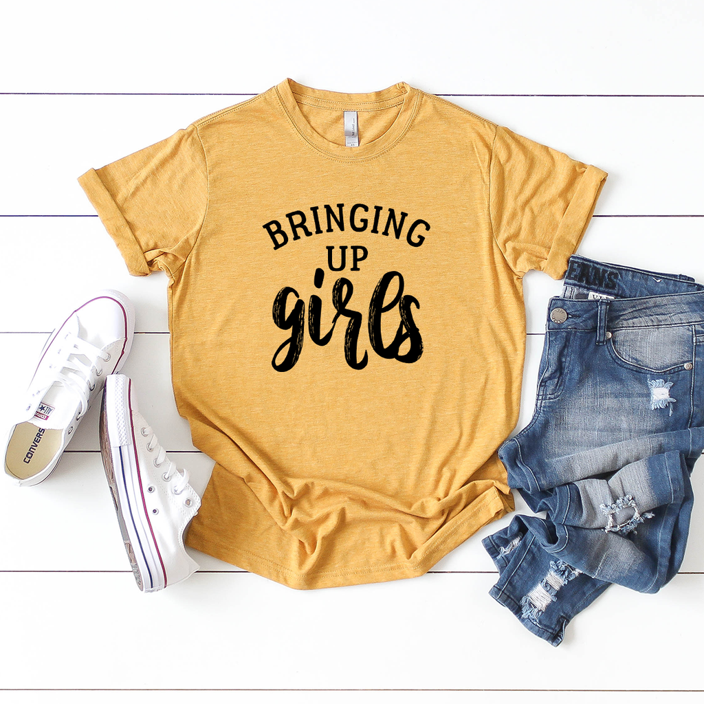 Bringing Up Girls - Mustard T-Shirt