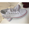 Image of Personalised White Canvas Wedding Shoes