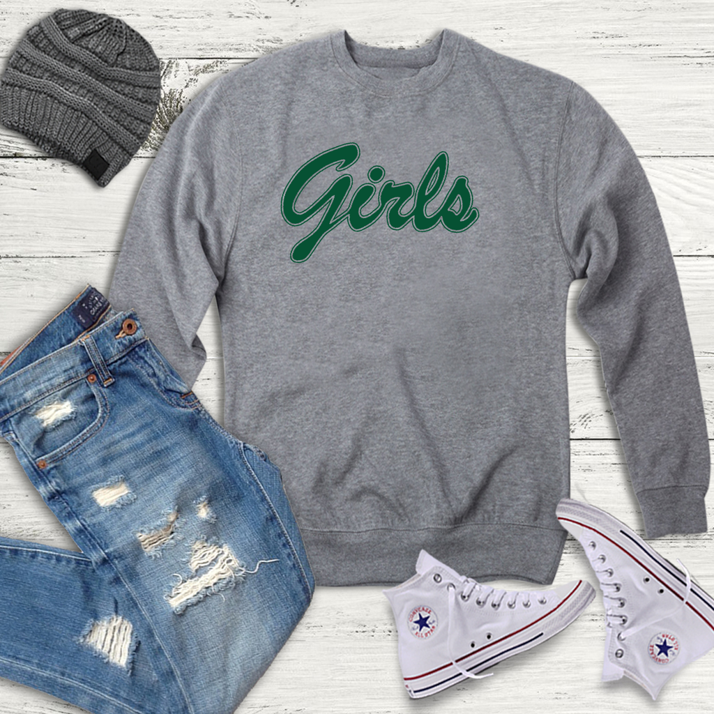 Girls Slogan Grey Sweatshirt