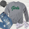 Image of Girls Slogan Grey Sweatshirt