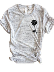 Beauty and the Beast inspired rose GREY t-shirt