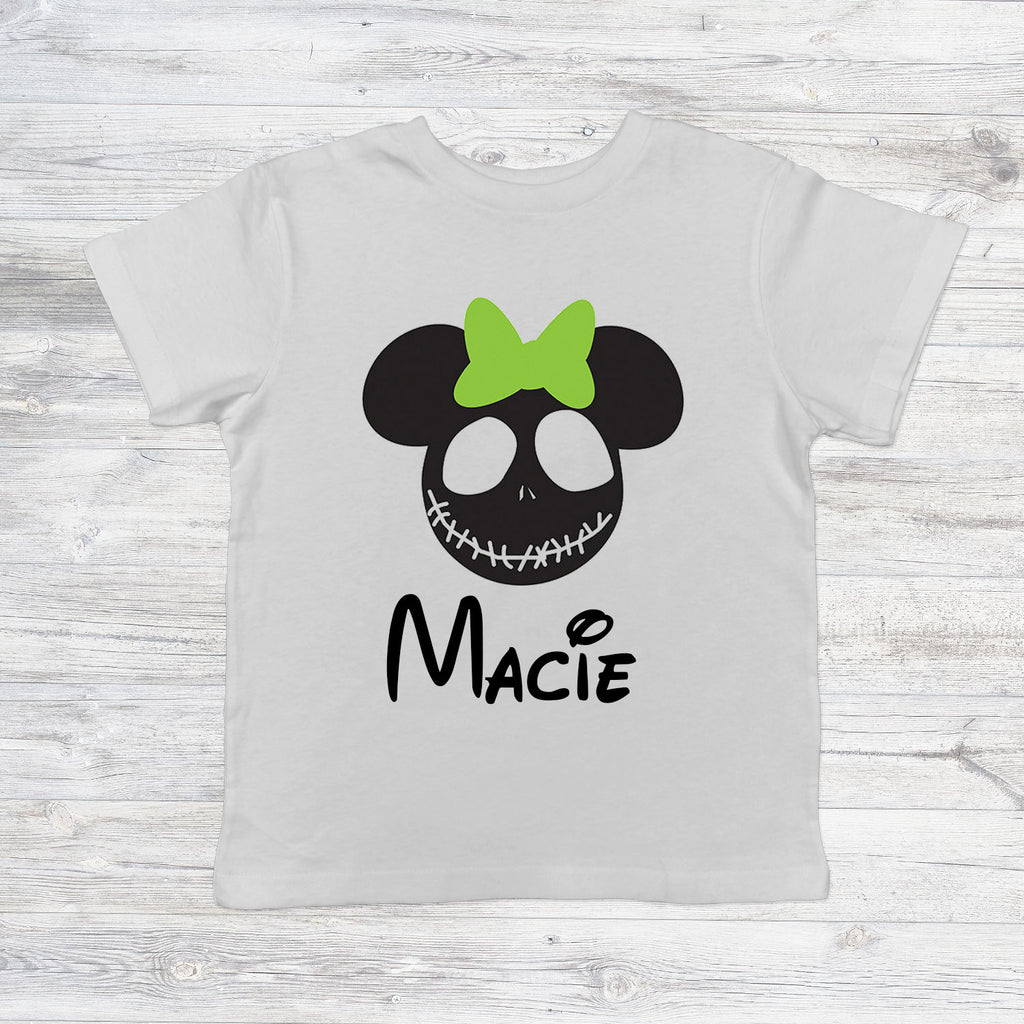 Personalised Nightmare Before Christmas with Bow Head Halloween T ...