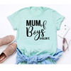 Image of MUM OF BOYS & Killin it mint green t-shirt