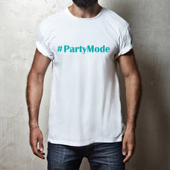#PartyMode white t-shirt Qualifying (kids, mens & ladies sizes available)