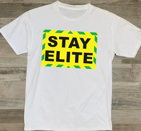 STAY ELITE white t-shirt (kids, mens & ladies sizes available)
