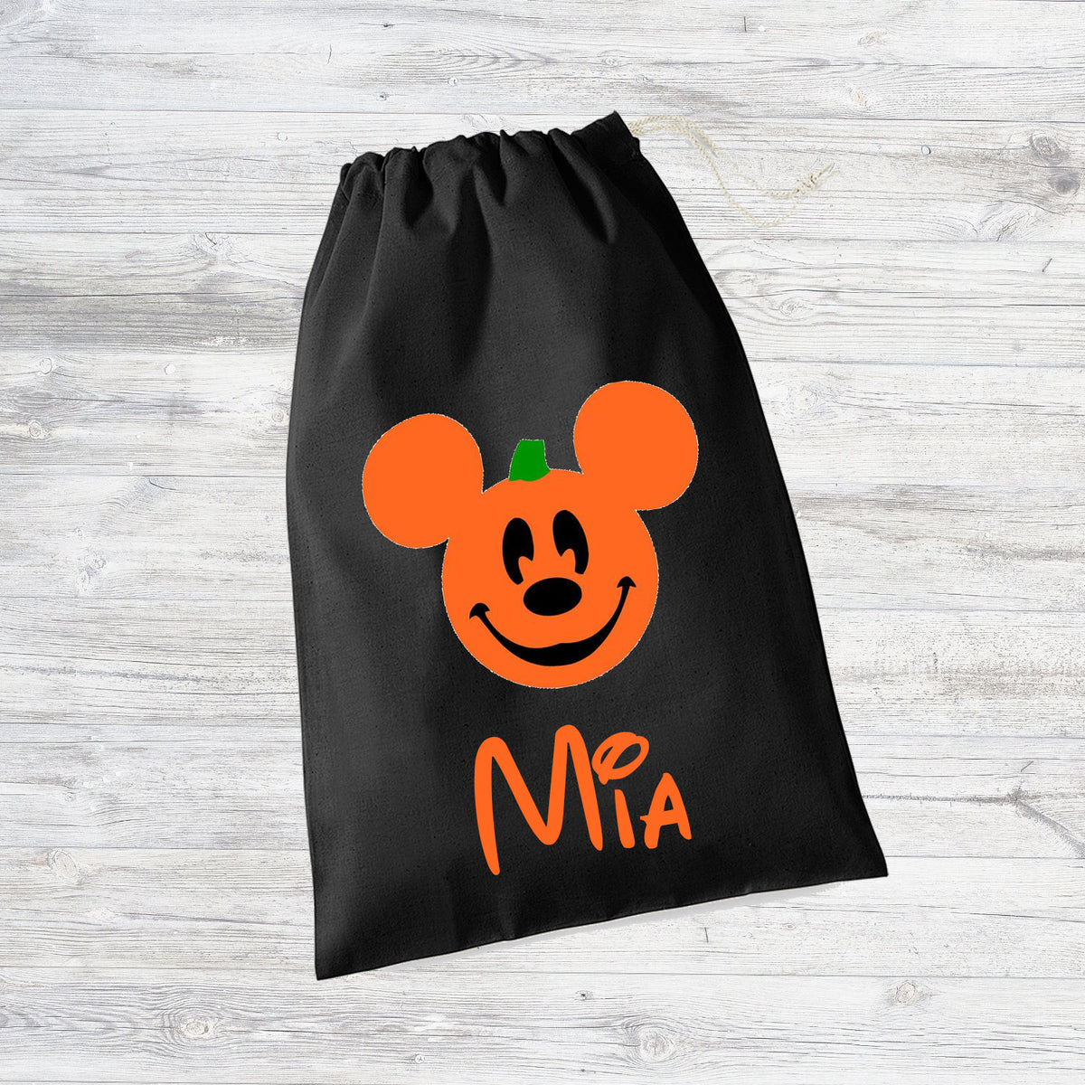 Personalised Mickey Pumpkin Halloween Trick or Treat Bag - Perfect for MNSSHP 2017!