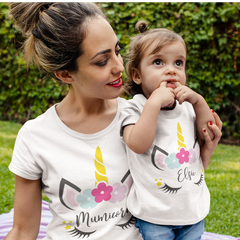 Personalised Unicorn Design T-Shirt Top baby, toddler and kids sizes!
