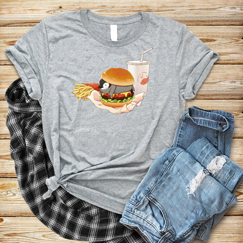 Vegan Graphic grey t-shirt