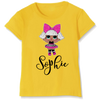 Image of Personalised Diva Glitter Surprise Doll Design T-Shirt Top