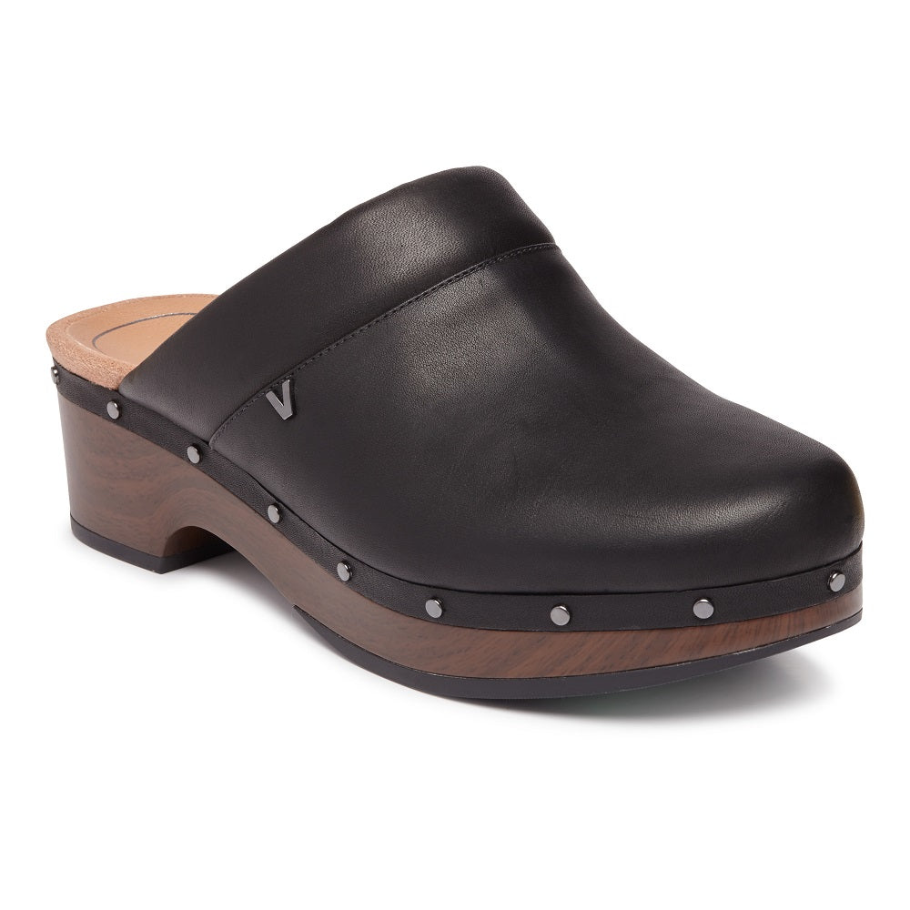 KACIE CLOG - BLACK LEATHER