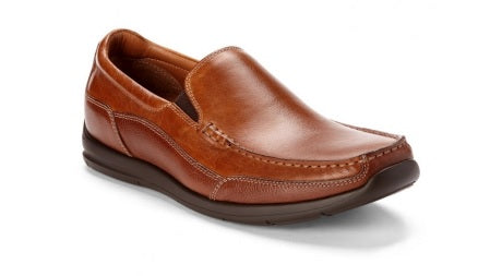 PRESTON - TAN LEATHER SLIP-ON