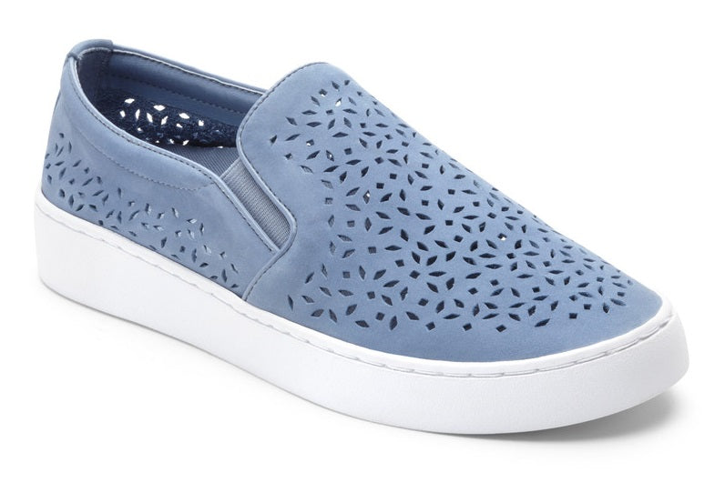 Slip-On Perf Leather - Light Blue (356MIDIPERF-LTBLU)