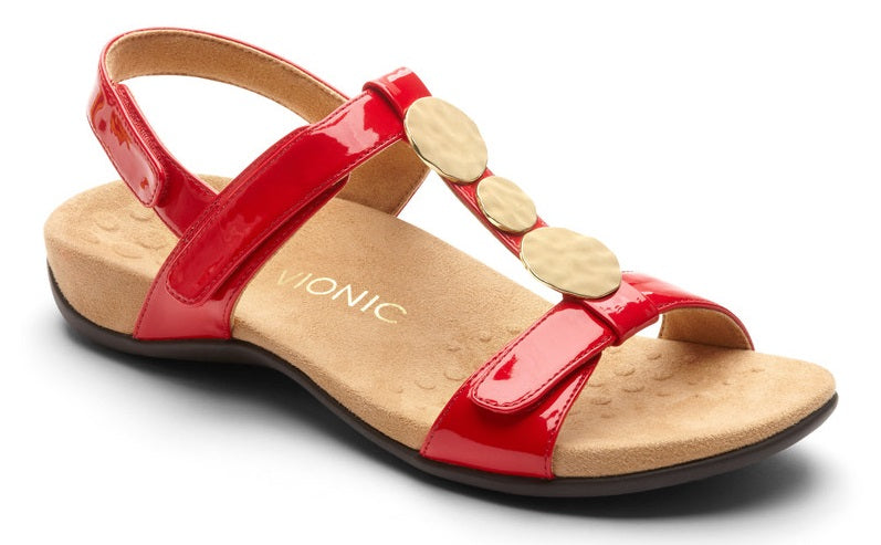 REST FARRA SANDAL - RED PATENT