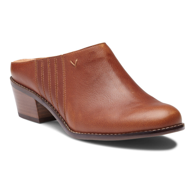 NELLIE MOCHA LEATHER MULE