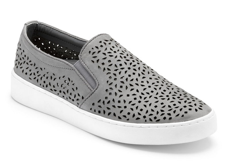 Slip-On Perf Leather - GREY (356midiperf-Gry)