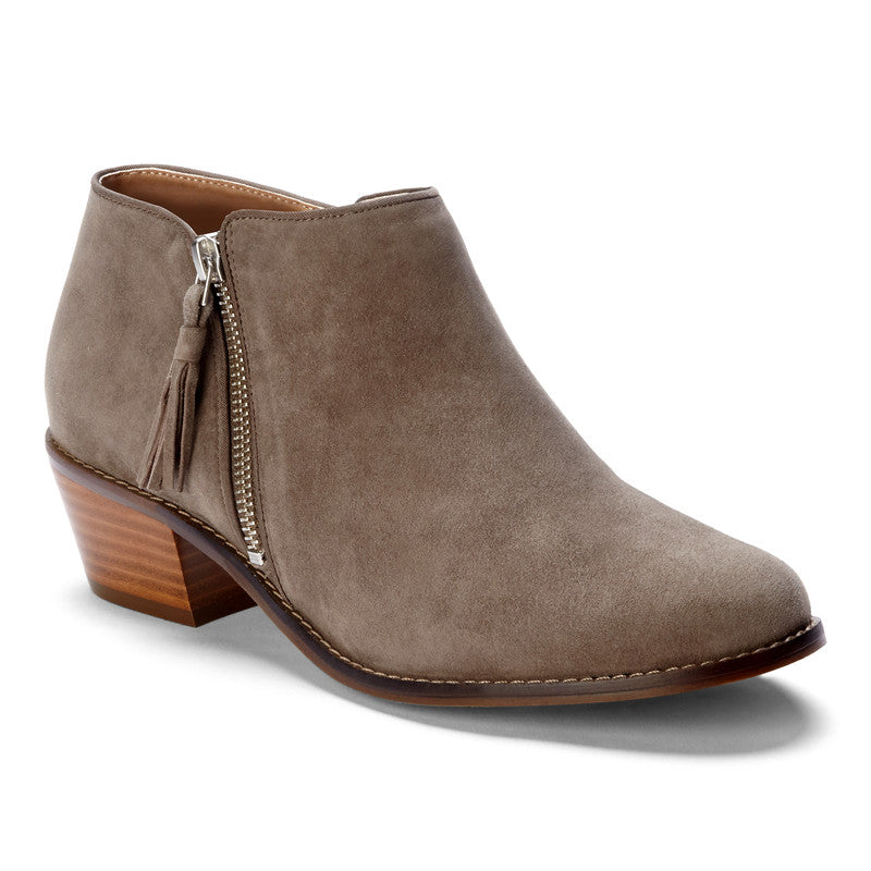 SERENA - GREIGE LOW HEEL ANKLE BOOT