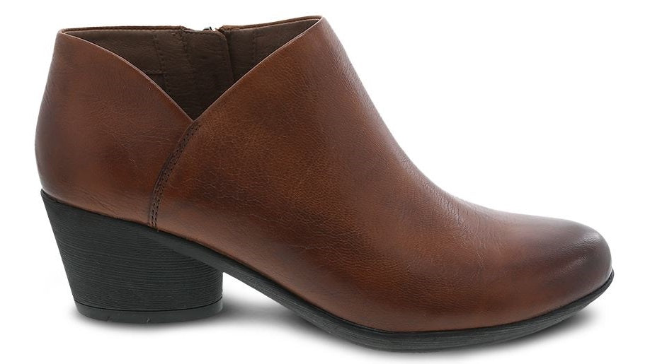RAINA - CHESTNUT BURNISHED CALF LOW CUT BOOT - 3813-690200