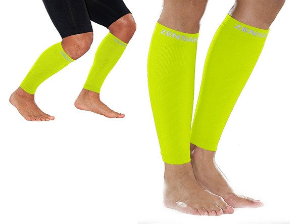 Zensah Fresh Legs - Neon Yellow COMPRESSION