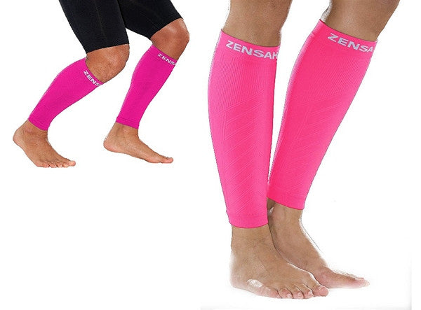 Zensah Fresh Legs - Neon Pink COMPRESSION