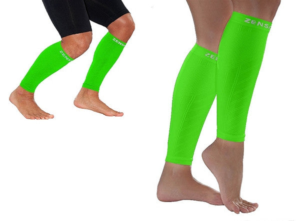 Zensah Fresh Legs - Neon Green COMPRESSION