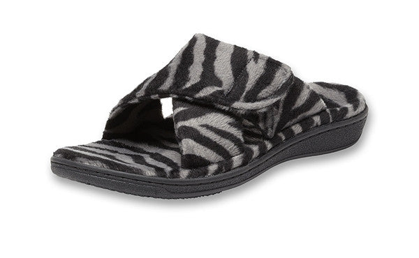 Relax Slipper - Grey Zebra