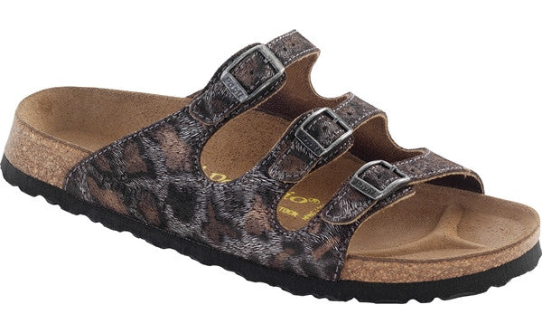 FLORIDA - LEOPARD ANTIQUE LEATHER 322503 (Narrow Width)